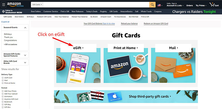 Guideline For Amazon Gift Card Payment 1