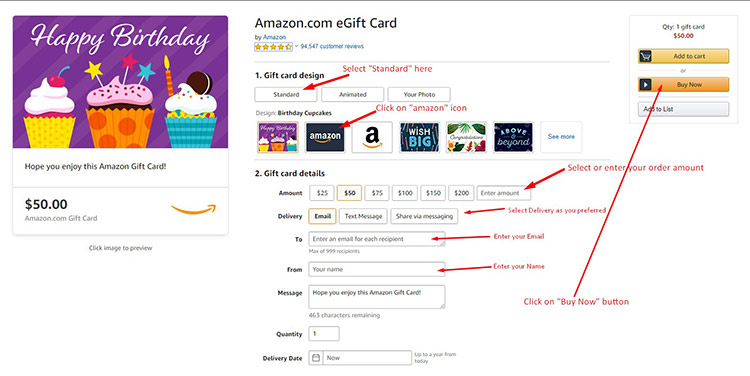 Guideline For Amazon Gift Card Payment 2